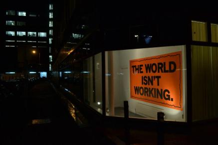 Mark Titchner, THE WORLD ISN'T WORKING, 2013 (1)